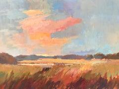 River Waltz by Millie Gosch, Framed Impressionist Landscape Oil Painting