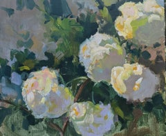Silent Bloom by Millie Gosch, Small Framed Oil on Board Still-Life Painting