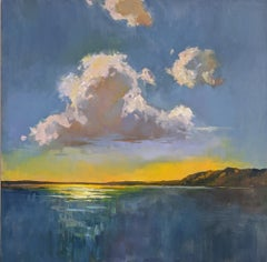 Sky's Rhapsody by Millie Gosch, Framed Impressionist Landscape Oil Painting