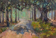 Southern Pines by Millie Gosch, Framed Impressionist Landscape Painting