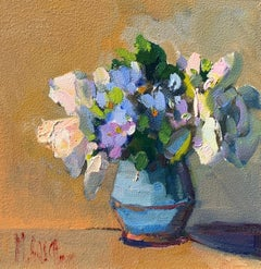 Spring Botany by Millie Gosch, Small Framed Oil on Board Still-Life Painting