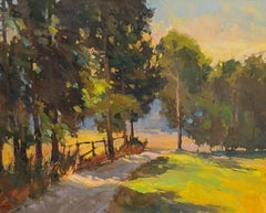 To the Back Field by Millie Gosch Impressionist Plein Air Landscape Painting