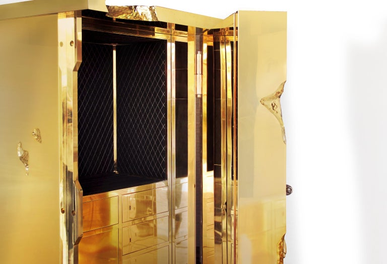 Portuguese Millionaire Gold Luxury Safe in Polished Brass, by Boca Do Lobo For Sale