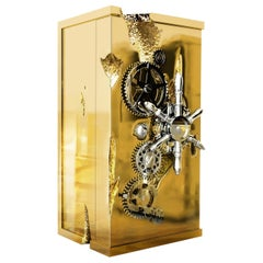 Millionaire Gold Luxury Safe in Polished Brass, by Boca Do Lobo