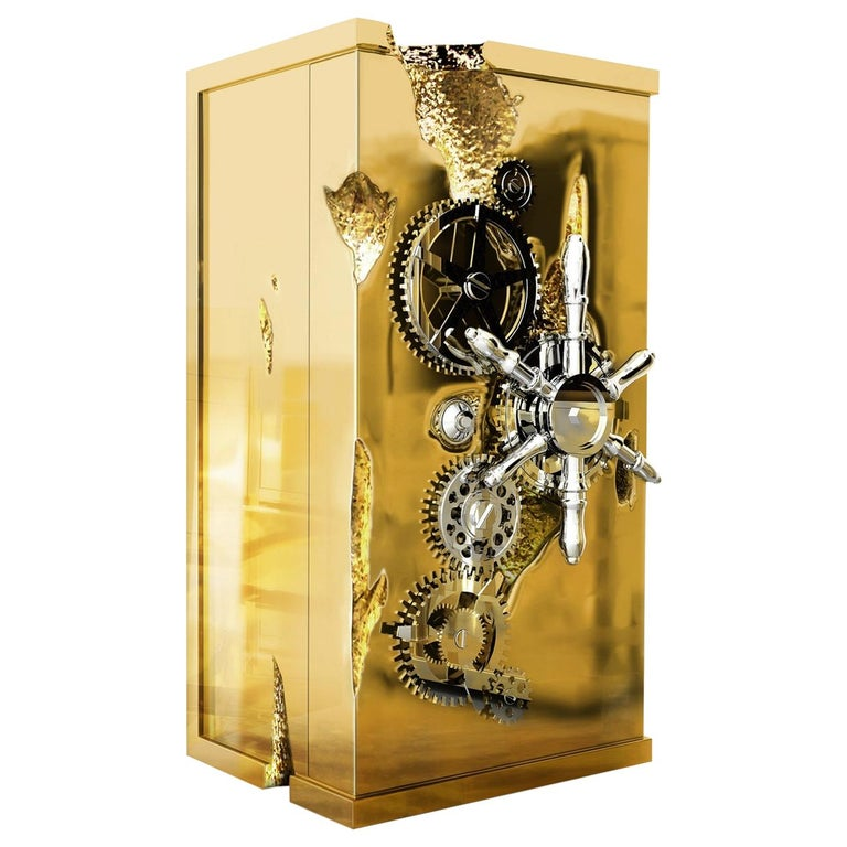 Millionaire Gold Luxury Safe in Polished Brass, by Boca Do Lobo For Sale