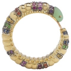Millipede Eternity Ring, Colored Stones