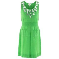 Milly Green Cashmere Knit Embellished Dress - Size M