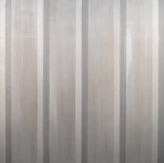 Everything and Nothing - large, monochrome, vertical stripes, acrylic on canvas