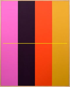 Problem and Solution No 3 - large colourful geometric abstract acrylic on canvas