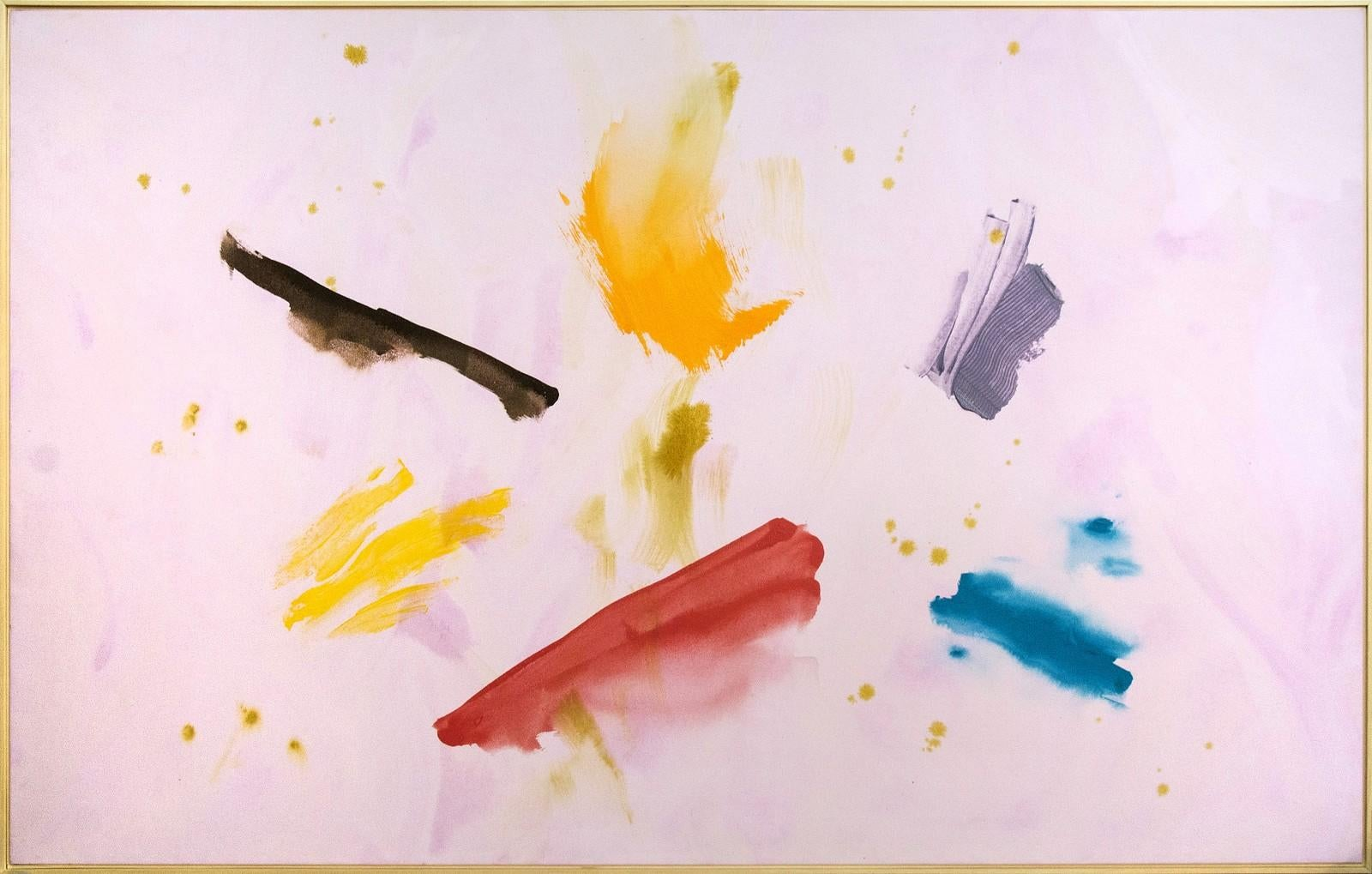 Summering - Expressive strokes of red, blue, yellow and mauve