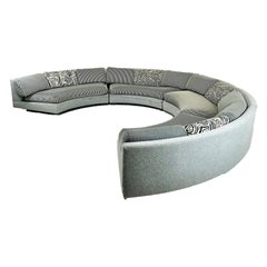 Milo Baughman 4-Piece Curved Sectional Sofa
