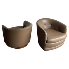 """Milo Baughman """"attributed"""" Swivel and Tilt Club Chairs"""