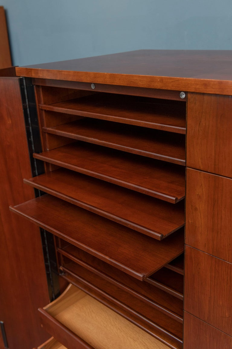 American Milo Baughman Tall Cabinet from his Directional Line For Sale