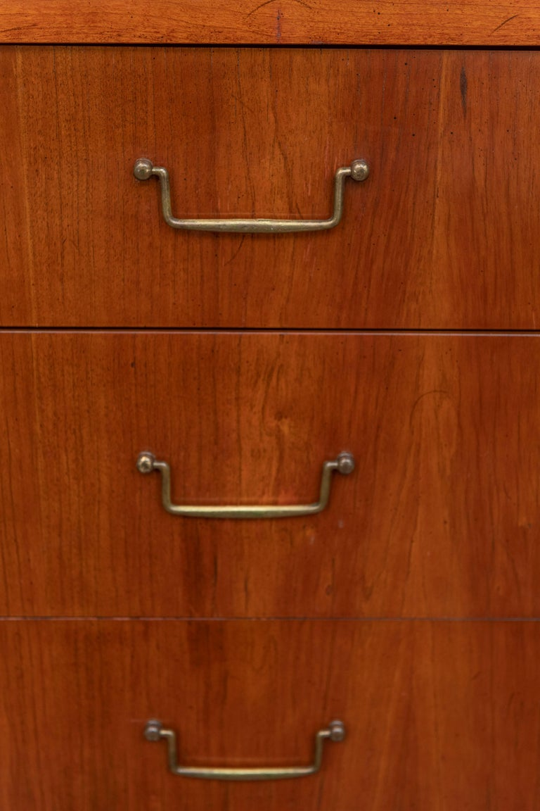 Brass Milo Baughman Tall Cabinet from his Directional Line For Sale