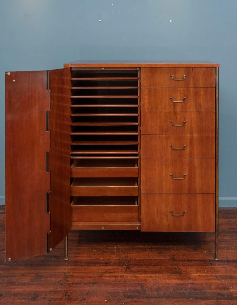 Milo Baughman Tall Cabinet from his Directional Line For Sale 1