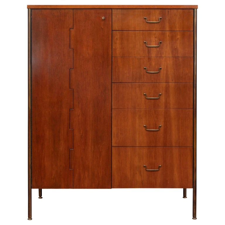 Milo Baughman Tall Cabinet from his Directional Line For Sale