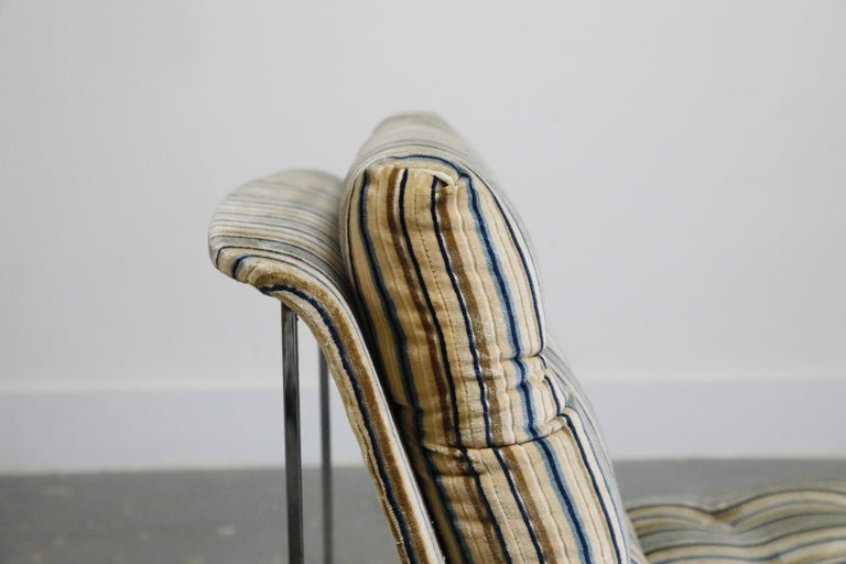 Milo Baughman for Thayer Coggin Model No. 1920 Sling Lounge Chair, 1970s For Sale 9