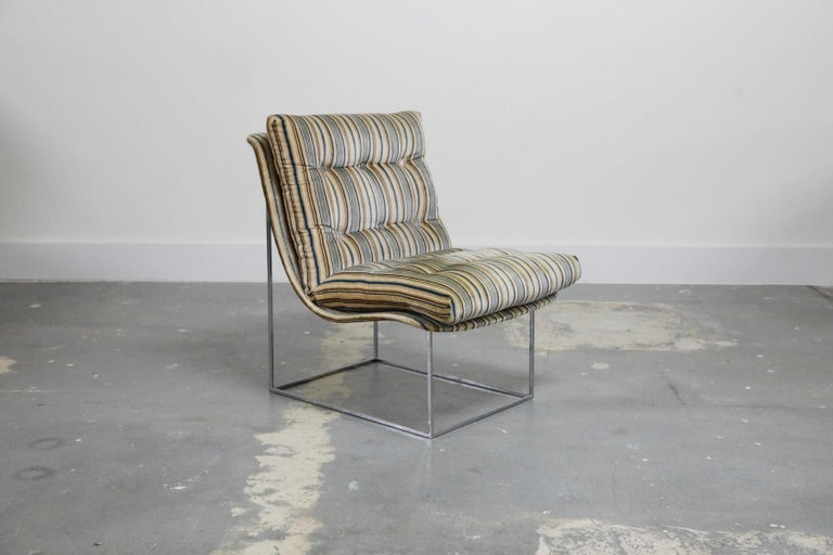 Mid-Century Modern Milo Baughman for Thayer Coggin Model No. 1920 Sling Lounge Chair, 1970s For Sale
