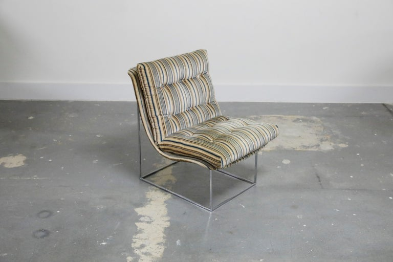 American Milo Baughman for Thayer Coggin Model No. 1920 Sling Lounge Chair, 1970s For Sale