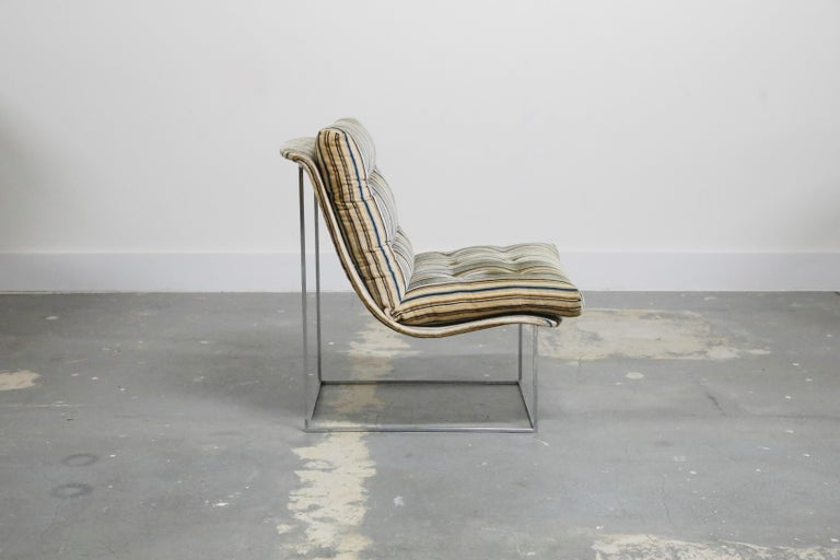 Milo Baughman for Thayer Coggin Model No. 1920 Sling Lounge Chair, 1970s In Good Condition For Sale In Los Angeles, CA