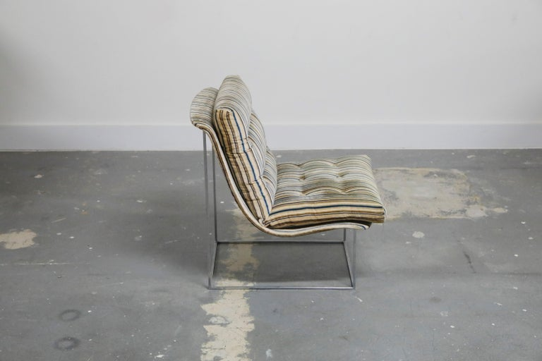 Late 20th Century Milo Baughman for Thayer Coggin Model No. 1920 Sling Lounge Chair, 1970s For Sale