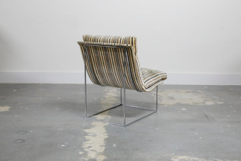 Fabric Milo Baughman for Thayer Coggin Model No. 1920 Sling Lounge Chair, 1970s For Sale