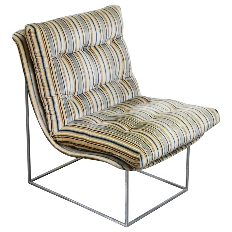 Milo Baughman for Thayer Coggin Model No. 1920 Sling Lounge Chair, 1970s For Sale