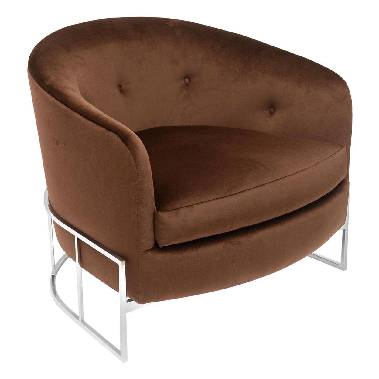 Milo Baughman Barrel Back Chair