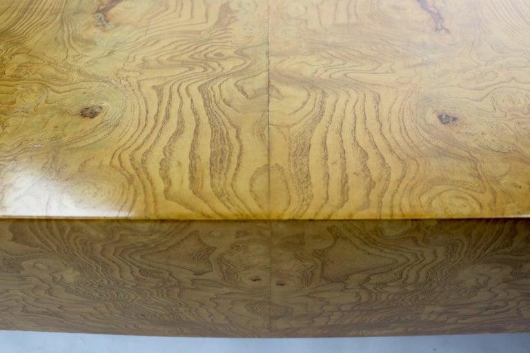Milo Baughman Burl Coffee Table For Sale 4