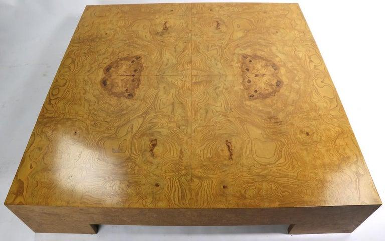 Mid-Century Modern Milo Baughman Burl Coffee Table For Sale