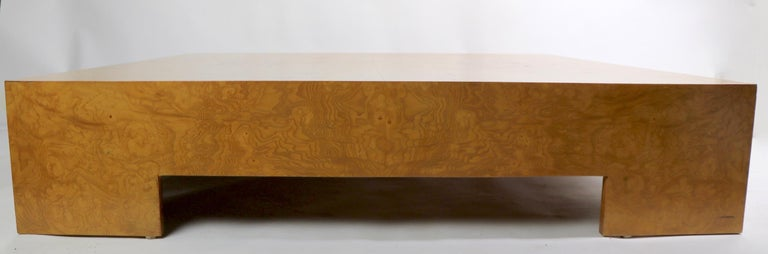 Milo Baughman Burl Coffee Table For Sale 3