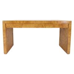 Milo Baughman Burl Wood Desk
