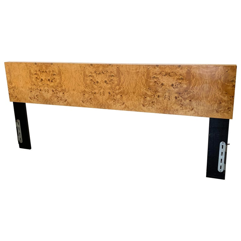 Milo Baughman Burl Wood King Headboard For Sale