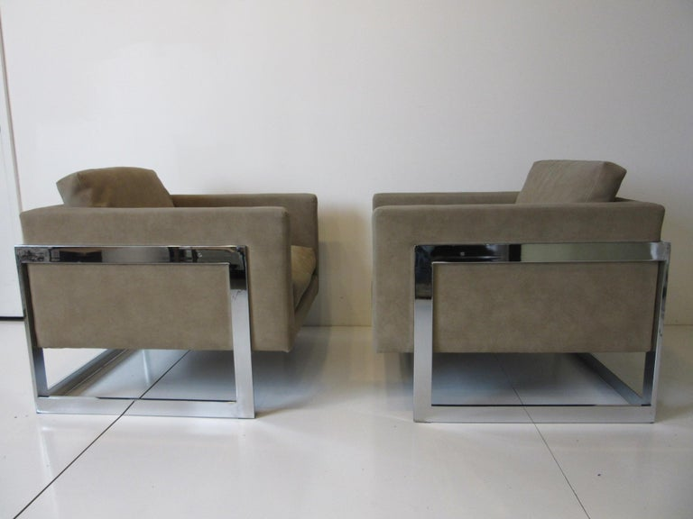 Milo Baughman Cantilever Cube Chairs for Thayer Coggin For Sale 5