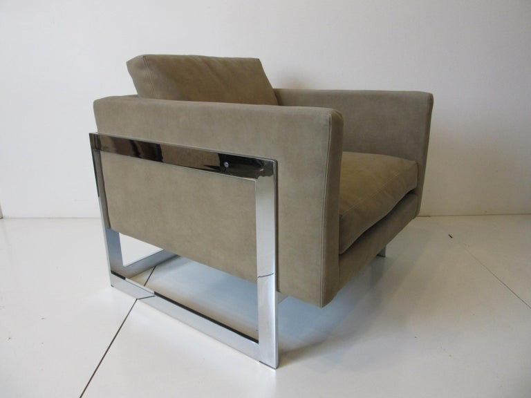 Modern Milo Baughman Cantilever Cube Chairs for Thayer Coggin For Sale