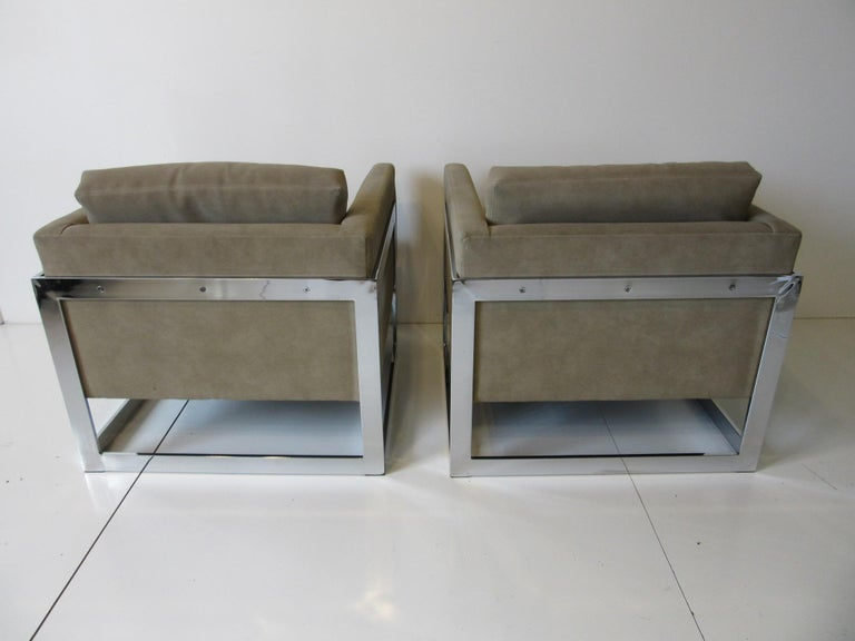 American Milo Baughman Cantilever Cube Chairs for Thayer Coggin For Sale