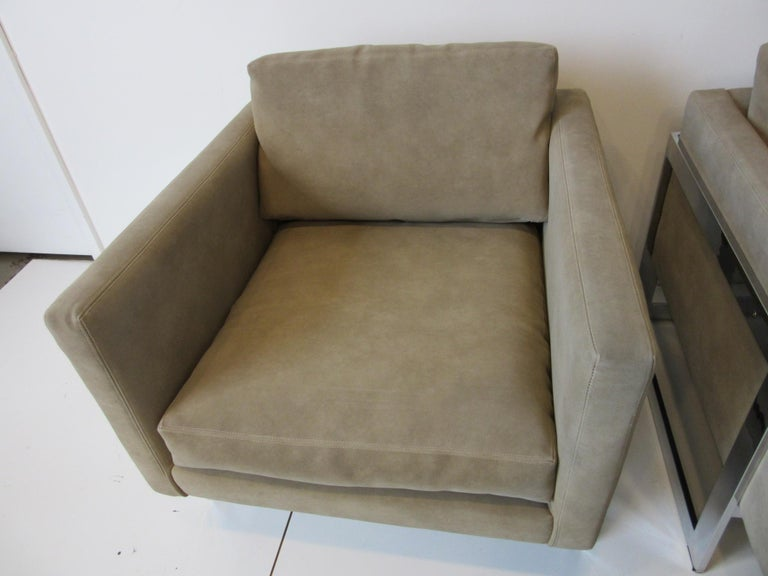 Upholstery Milo Baughman Cantilever Cube Chairs for Thayer Coggin For Sale