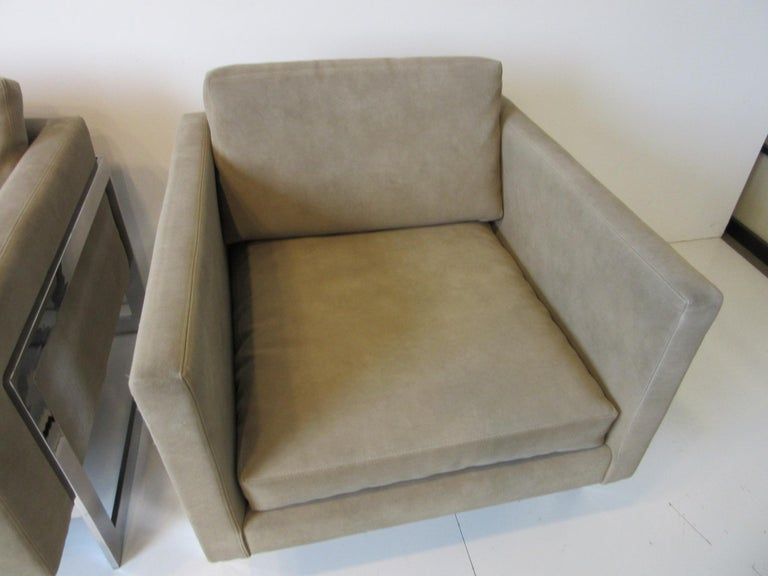 Milo Baughman Cantilever Cube Chairs for Thayer Coggin For Sale 1
