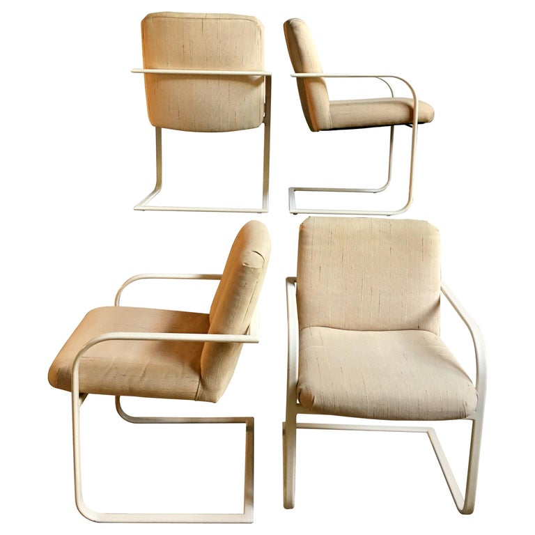 Milo Baughman Cantilever Dining Lounge Chairs for Thayer Coggin For Sale
