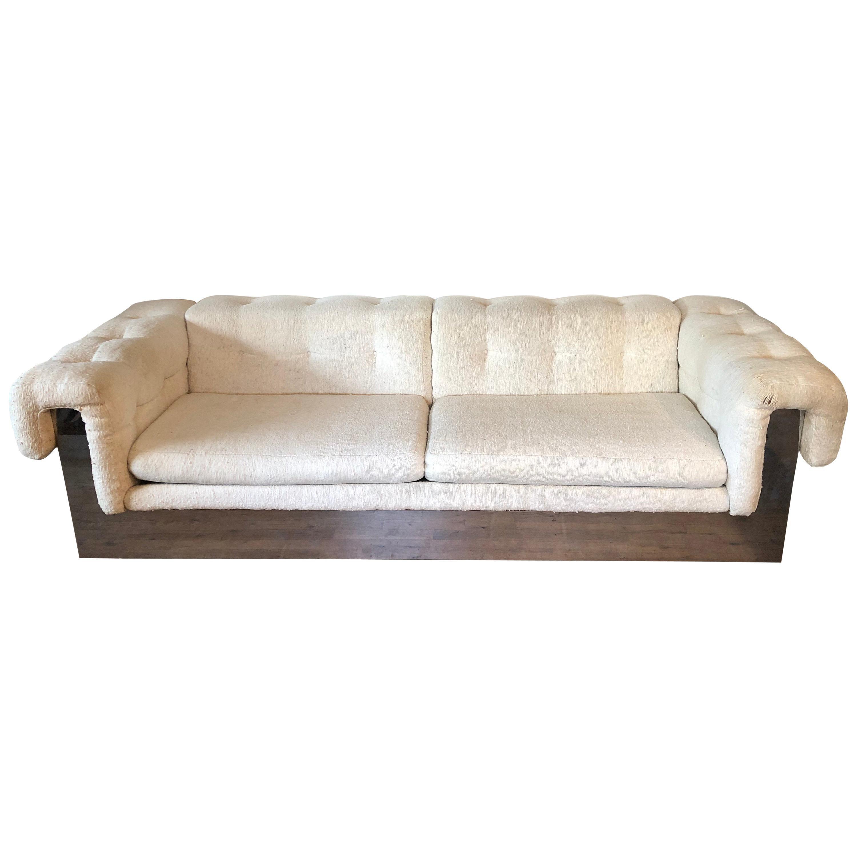 Milo Baughman Chrome Based Sofa