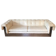 Milo Baughman Chrome Based Sofa