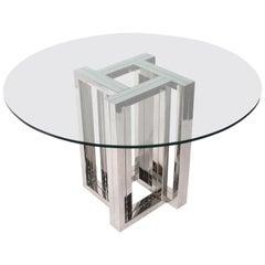 Milo Baughman Chrome Dining Table