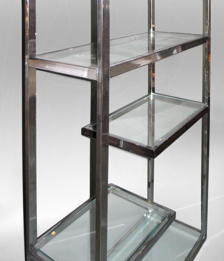 Fabulous Milo Baughman Chrome Etagere With Glass Shelves Home Remodeling Inspirations Basidirectenergyitoicom