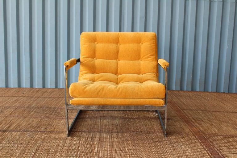 Milo Baughman Chrome Lounge Chair For Sale 4
