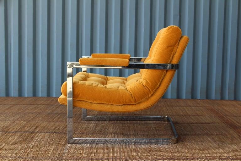 American Milo Baughman Chrome Lounge Chair For Sale