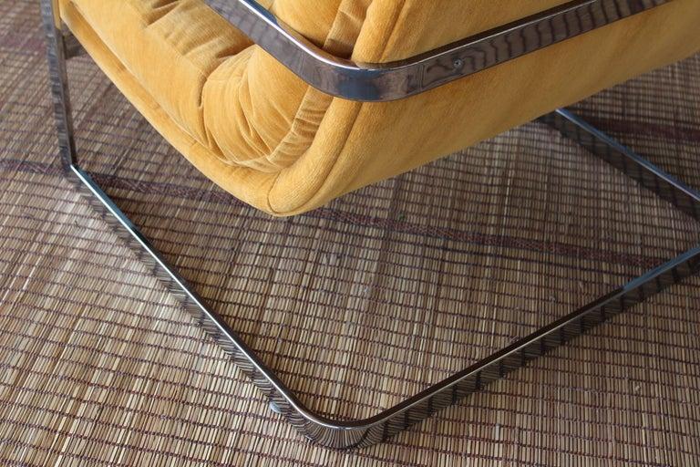 Milo Baughman Chrome Lounge Chair For Sale 1