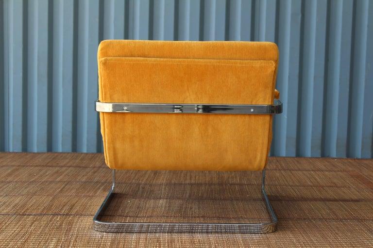 Milo Baughman Chrome Lounge Chair For Sale 2