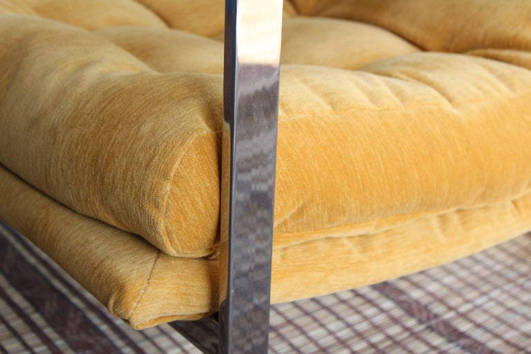 Milo Baughman Chrome Lounge Chair For Sale 3