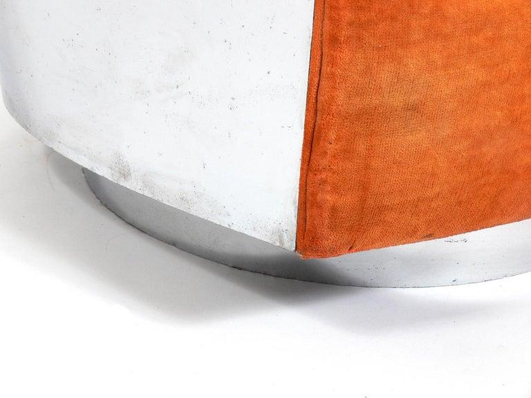 Metal Milo Baughman Chrome Swivel Chair For Sale