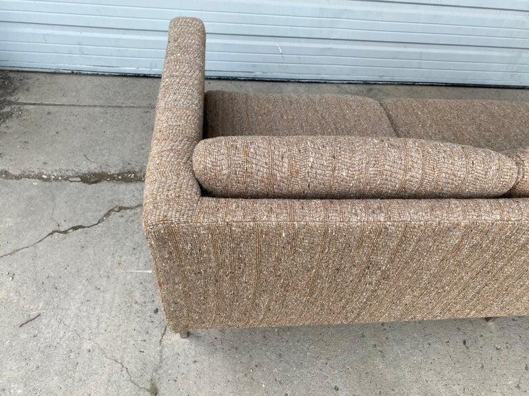 Milo Baughman Attributed Chrome Three-Seat Sofa, Mid-Century Modern For Sale 2
